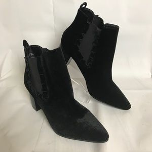 14th & Union Boots Booties Sz 11 Black Suede Ankle